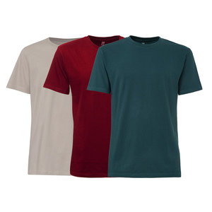 3er Pack TT02 T-Shirt Herren Grau/Rot/Petrol Bio & Fair - THOKKTHOKK