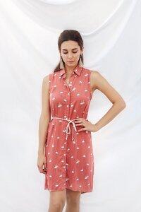 Alexa Dress - Flamingo Print - Meemoza