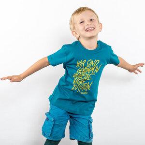 Lukas Adolphi - Auf die Kacke hauen - Boys Organic Cotton T‑Shirt - Nikkifaktur