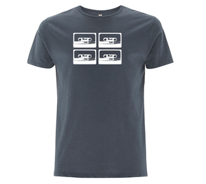 4Tapes Herren T-Shirt Organic & Fair Wear _charcoal grey - ilovemixtapes