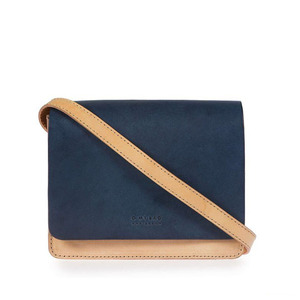Audrey Mini Eco-Classic Natural/Navy - O MY BAG