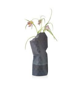 Paper Vase Cover Watercolor Grey - klein - Pepe Heykoop