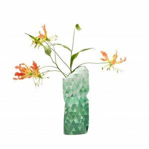 Paper Vase Cover Green Gradient - klein - Pepe Heykoop
