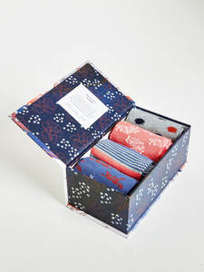 4 Paar Socken Box - SASHIKO SOCKS GIFT BOX - Thought