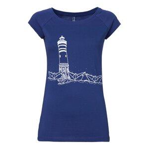 Paperharbour Cap Sleeve T-Shirt Damen weiß/blau Bio & Fair - ilovemixtapes