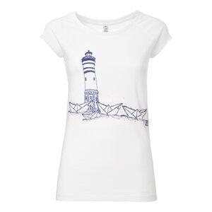 Paperharbour Cap Sleeve T-Shirt Damen blau/weiß Bio & Fair - ilovemixtapes