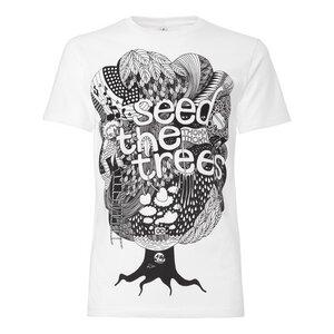 Seedthetrees T-Shirt Herren schwarz/weiß Bio & Fair - THOKKTHOKK