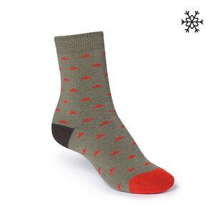 ThokkThokk Pythagoras High-Top Plüsch Socken olive - THOKKTHOKK