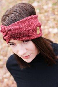 Stirnband im Turbanlook - Copper Red Rip - dreisechzig