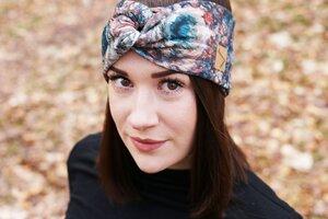 Stirnband im Turbanlook - Flowerbomb Sweat - dreisechzig