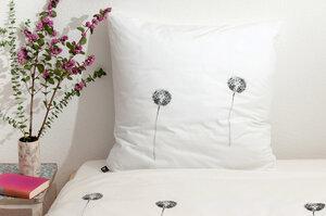 Bio-Kissenbezug 'Pusteblumen' weiß 80*80 cm - Hirschkind