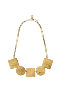 Statement Shapes Necklace Brass  - People Tree