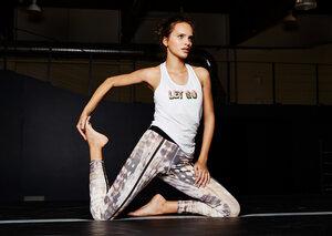 Yoga Shirt - Mesh Tank - White - Mandala