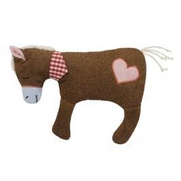 Efie XL Pferd braun mit Herz, Spieltier und Kuschelkissen, kontrolliert biologischer Anbau, 100 % Made in Germany - Efie