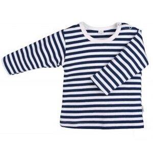 Baby u. Kinder LA Shirt marine geringelt Bio Baumwolle - iobio