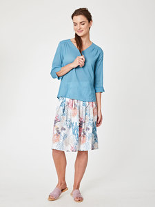 KENDRA TOP - Lagoon Blue - Thought | Braintree