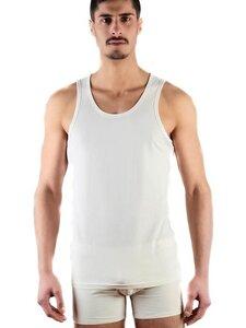 Herren Tanktop 4 Farben Unterhemd Bio-Baumwolle  Achselhemd  - Albero