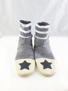 Gr. 40/41 Schuhe aus Wolle mit Ledersohle, Hüttenschuhe  - Süßstoff