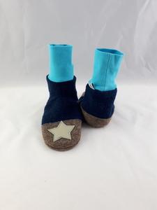 Gr. 26/27 Schuhe aus Wolle mit Ledersohle und hohem Bündchen  - Süßstoff