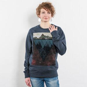 Kopfstein - Feuer - Unisex Recycled Organic Sweatshirt - Nikkifaktur