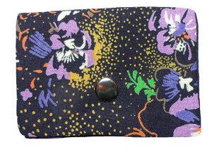 Leesha WILDe Upcycling Mini Portemonnaie Florale Nacht - Leesha