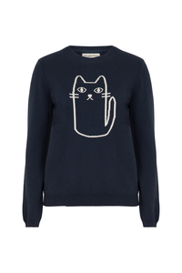 Cat Jumper Navy - People Tree