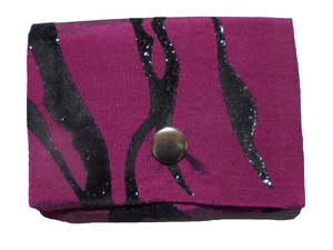 Leesha WILDe Upcycling Mini Portemonnaie Purple Tiger - Leesha
