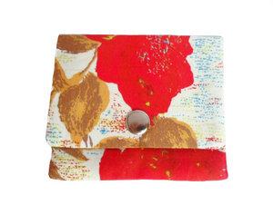 Mini Portemonnaie Rosen Herbst, Upcycling von Leesha - Leesha
