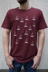 Boats Fair Trade / Bio Men Shirt _ red melange - ilovemixtapes