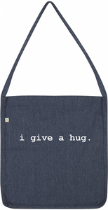 i give a hug recycling bag - WarglBlarg!