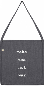 make tea not war recycling bag - WarglBlarg!