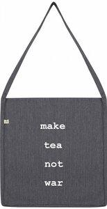 make tea not war recycling bag - WarglBlarg!