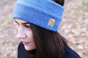 Schlichtes Fleece Stirnband - Dove Blue - dreisechzig