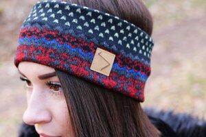 Schlichtes Stirnband - Norweger Muster - dreisechzig