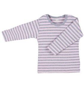 Baby u. Kinder LA Shirt rosa grau geringelt Bio Baumwolle iobio - iobio