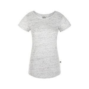 Curved T-Shirt Damen Weiß Meliert - bleed