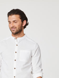 AVRO GRANDPA SHIRT - White - Thought | Braintree