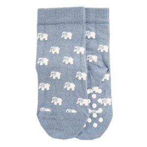 Kindersocken mit Noppen Biobaumwolle Elefant - VNS Organic