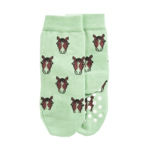 Socken mit Noppen Pferd Biobaumwolle - VNS Organic Socks