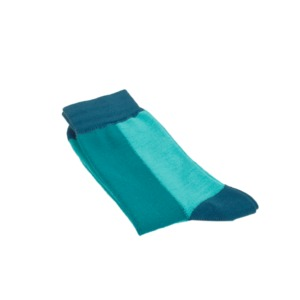 Colour Block Socken blau - VNS Organic Socks