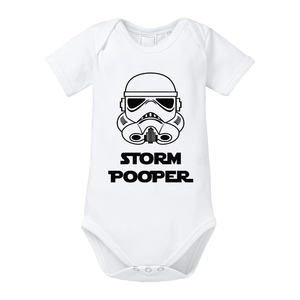Storm Pooper kurzarm Baby Body  - little BIG Family