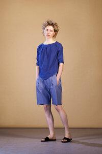 COSY II shorts, light denim - FORMAT