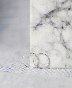 pikfine 925er Silber Creolen // 17,5 mm  - pikfine