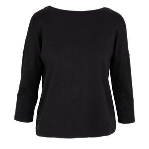 PEARL - 3/4 Sleeve Top - Black - Frieda Sand