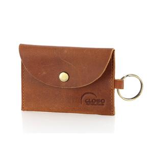 Mini-Münzbörse vintage mit Schlüsselanhänger, Ökoleder - GLOBO