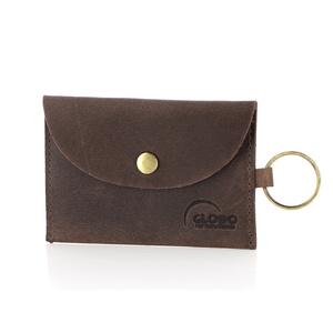 Mini-Münzbörse mit Schlüsselanhänger, Ökoleder - GLOBO
