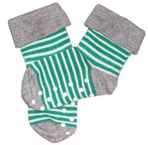 Baby Kinder Stopper Socken 6 Farben Bio-Baumwolle Geringelt ABS Antirutsch - Albero