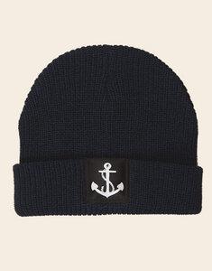 päfjes - Fair gehandelte Mütze - Anker - Navy/Black - päfjes