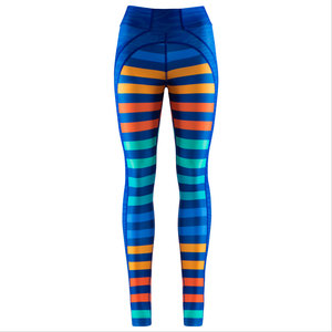 Dynamic Legging . Caribbean Stripes - nice to meet me