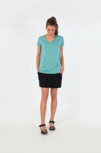 HAMAZAZPI V-Neck Shirt - Turquoise/Green Melange - skunkfunk
